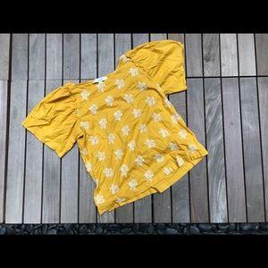 LOFT | Yellow Short Sleeve Top